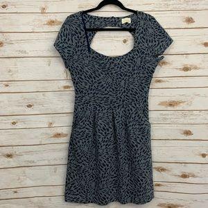 Anthro Deletta Cutout Open Back Short Sleeve Dress